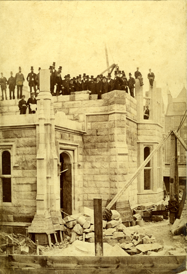 Construction of the McLean Museum 1875