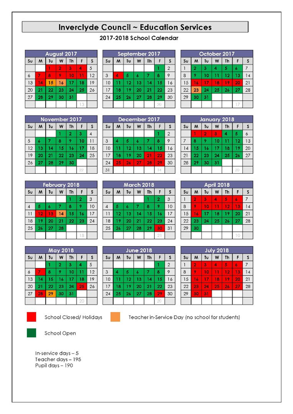 school year planner 2018 17