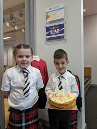 Moorfoot Primary UNCRC 30th birthday cake