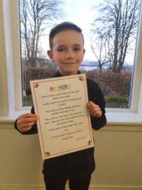 Harry Small, aged seven, 'My Hero' poem