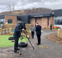 Moorfoot primary featured on BBC radio and TV news