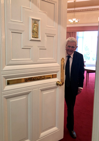 Provost of Inverclyde Councillor Martin Brennan at the Provost's Room which is in the virtual Doors Open Days tour of Greenock Municipal Buildings