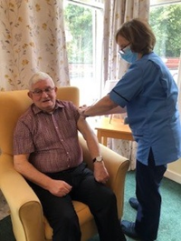 Second covid vaccine doses being delivered in Bagatelle care home run by Greenock Medical Aid Society