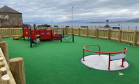Accessible playpark at Coronation Park in Port Glasgow