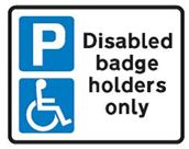 Parking Disabled Badge Holders Only Sign