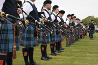 Pipers - Gourock Highland Games Sunday 8 May 2016
