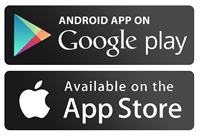 Google play and app store logos