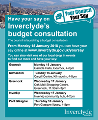 Budget Consultation meetings 2018