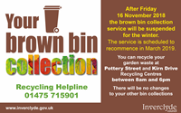 Brown Bin Collections Winter 2018