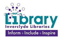 Library logo with tagline