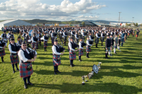 Gourock Highland Games - massed pipe bands