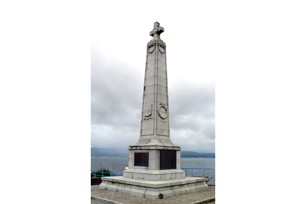 This memorial is located at Albert Road, Gourock.