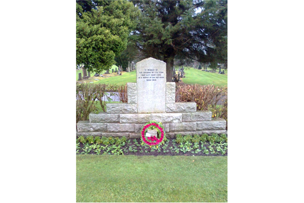 This war memorial is located at Greenock Cemetery at Sect 3P.