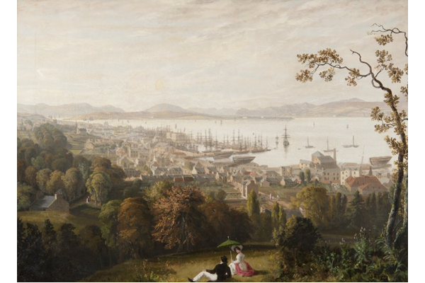 The Town of Greenock by John Fleming (1792-1845) - 