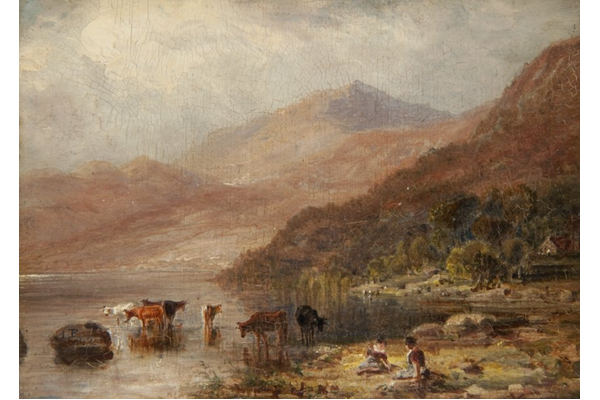 Loch Tay and Ben Lawers by John Fleming (1792-1845) - Oil on canvas - 12.5 x 17.5 cm - 1832 - 1977.809 ©McLean Museum and Art Gallery, Greenock.
