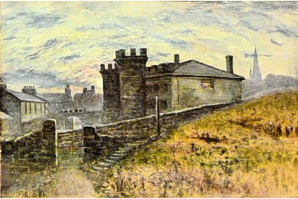 The Old Prison, Bank Street, Greenock - Watercolour on paper - 29.5 x 44.5 cm - 1886 -  1977.756 ©McLean Museum and Art Gallery, Greenock