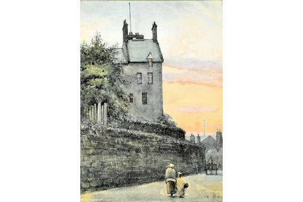 The Old Mansion House, Greenock - Watercolour on paper - 13.5 x 24.5 cm - 1886 - 1977.769 ©McLean Museum and Art Gallery, Greenock. This work was conserved with the generous assistance of the Scottish Museums Council.