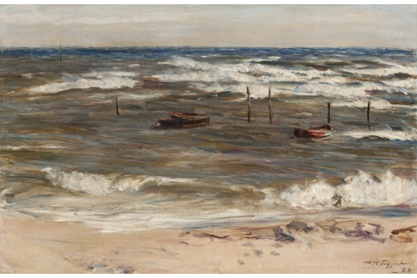 Carnoustie - Oil on canvas - 60.8 x 91.5 cm - 1885 - 1977.989 © McLean Museum and Art Gallery, Greenock