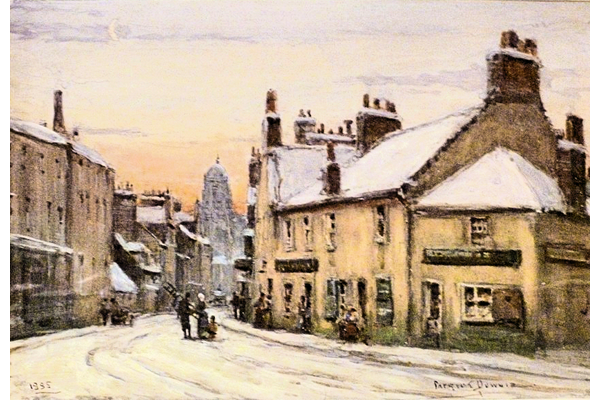 Winter Morning, Dalrymple Street, Greenock - Watercolour on paper - 22 x 32 cm - 1885 - 1977.775 ©McLean Museum and Art Gallery, Greenock