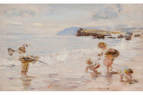 Where the Smugglers Came Ashore - Oil on canvas - 20.7 x 30.5 cm - 1890 - 1977.990 ©McLean Museum and Art Gallery, Greenock.