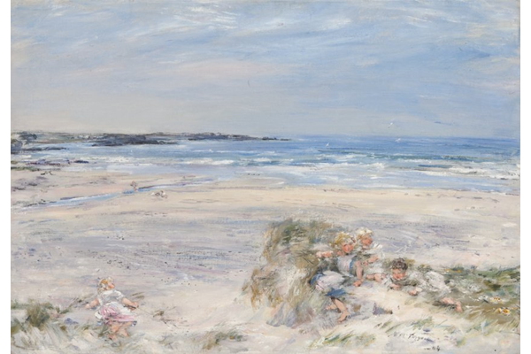 Where the Birnie runs down to the Sea, Machrihanish - Oil on canvas - 59 x 84.2 cm - 1904 - 1977.988 © McLean Museum and Art Gallery, Greenock