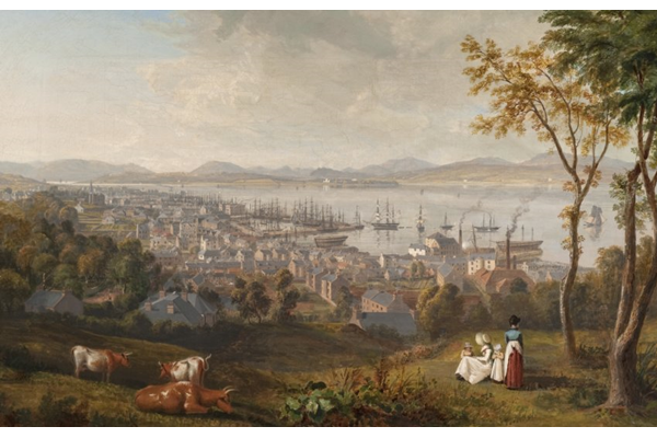 Greenock from the East by John Fleming (1792-1845) - Oil on canvas - 63.7 x 89.3 cm  - 1827 - 1977.818 - © McLean Museum and Art Gallery, Greenock.