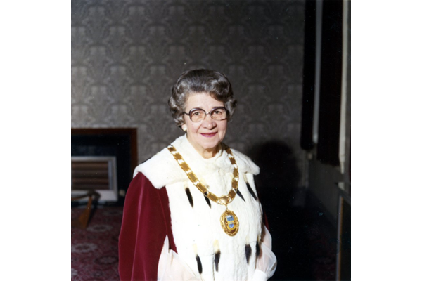 Elizabeth Martin (1905-1989), Provost of Greenock 1974-1975 - Bromide print on paper - R27336.4 - ©McLean Museum and Art Gallery, Greenock