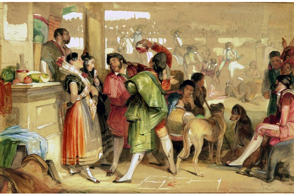The Bull Fight, Plaza de Toros, Seville by John Frederick Lewis (1804-1876) - Gouache on paper - 1838 - 29.2 x 44.2 cm  - © McLean Museum and Art Gallery, Greenock