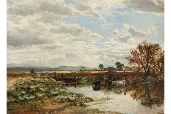 Landscape by Samuel Bough (1822-1878) - Oil on panel - 1854 - 19 x 26.5 cm - 1977.656 - © McLean Museum and Art Gallery, Greenock