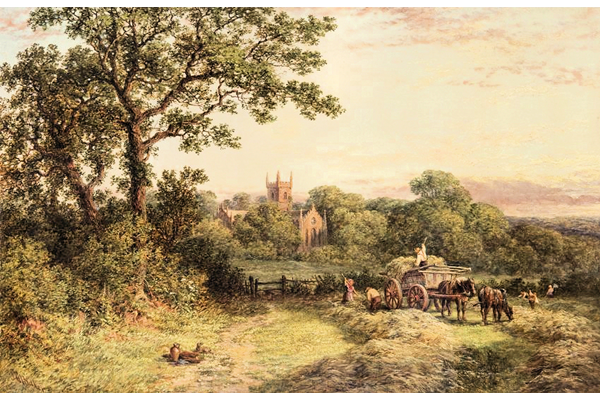 St. Mary's Church, Handsworth, Birmingham by Samuel Henry Baker (1824-1909) - Oil on canvas - 46 x 68.8 cm - 1978.366 - © McLean Museum and Art Gallery, Greenock