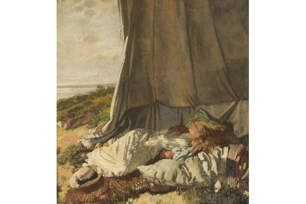 Afternoon Sleep by Sir William Orpen (1878-1931) - Oil on canvas - 1912 - 100 x 95 cm - 1977.1068 - © McLean Museum and Art Gallery, Greenock