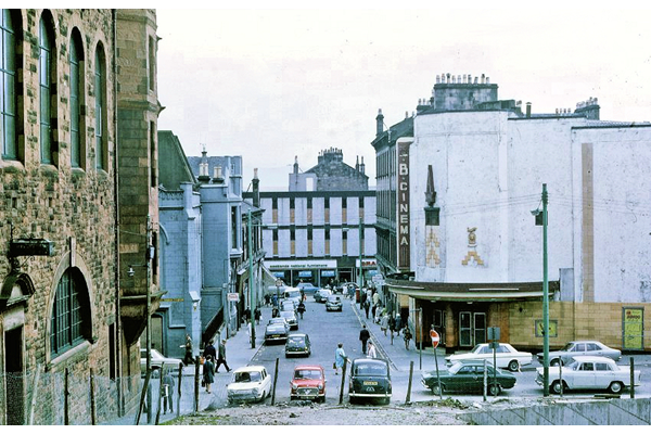 The BB Cinema, West Stewart Street, Greenock 1971 - Colour transparency by Eugene Jean Méhat (1920-2000) - 2008.72.396 - © McLean Museum and Art Gallery, Greenock