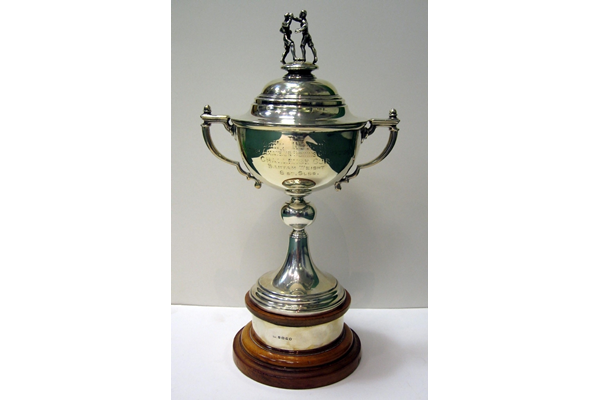 Daily Record Scottish Amateur Boxing Championship Challenge Cup Bantam Weight 8st. 6lbs, won three times by Alec Murphy of Port Glasgow. - 2007.7 - © McLean Museum and Art Gallery, Greenock