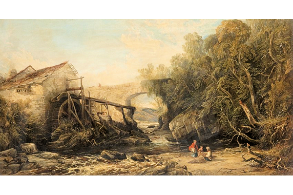 The Old Mill by Edmund Gustavus Müller (1816 - c 1876)   - Oil on canvas - 85.7 x 153 cm - Dated 1854 - 1977.1023  - © McLean Museum and Art Gallery, Greenock