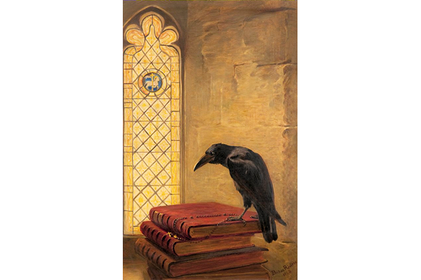 'A Saint, from the 'Jackdaw of Rheims' by Briton Rivière (1840-1920). - Oil on canvas - 51.2 x 32.3 cm - 1977.1110 - © McLean Museum and Art Gallery, Greenock.