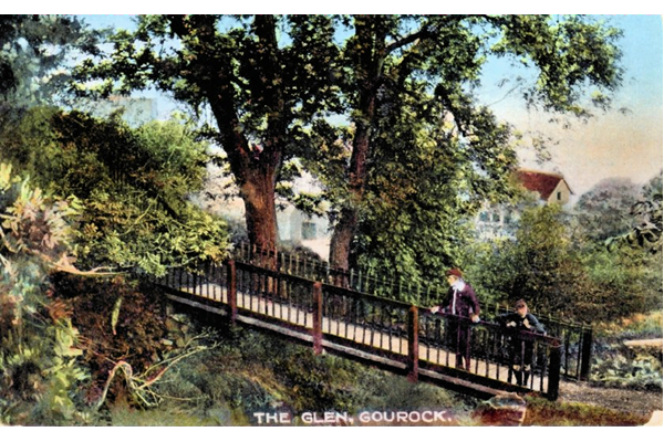 The Glen, Gourock - Colour lithograph postcard posted on 29 July 1919 - WL4177 - © McLean Museum and Art Gallery, Greenock
