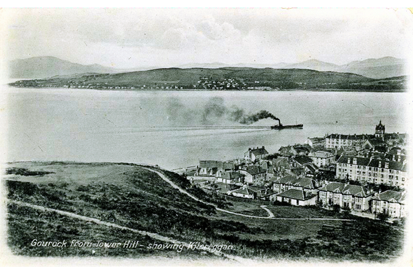 Gourock from Tower Hill looking towards Kilcreggan - Postcard posted on 9 April 1915 - WL4171 - © McLean Museum and Art Gallery, Greenock