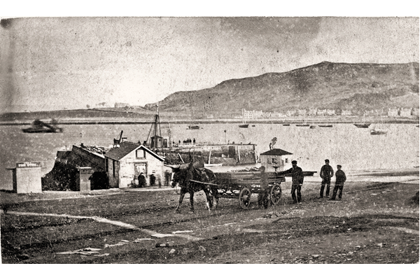 Gourock Pier - This bromide print is of uncertain date but is probably from the 1880s or earlier. - WL3153 -  © McLean Museum and Art Gallery, Greenock