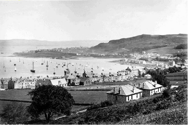 East Bay from the Hill, Gourock - This photograph shows the view towards Greenock. The date is uncertain but the picture was taken by Samuel Poulton (1819-1898) - WL2851 - © McLean Museum and Art Gallery, Greenock