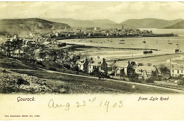 Gourock from Lyle Road, Cardwell Bay - Postcard posted on 29 August 1903 - WL1564 - © McLean Museum and Art Gallery, Greenock