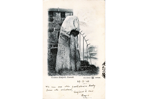 Granny Kempock Stone, Gourock - Postcard posted on 23 June 1903 - WL1091 - © McLean Museum and Art Gallery, Greenock