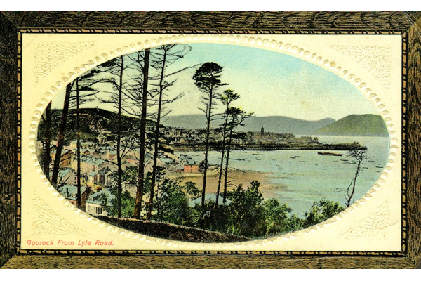 Gourock from the Lyle Hill - Colour lithograph postcard posted on 13 June 1910 - WL1029 - © McLean Museum and Art Gallery, Greenock