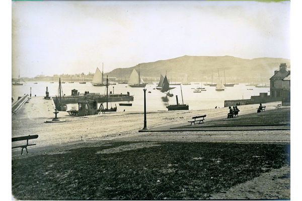 The Pier Head, Gourock in 1880. - Photograph on paper - P106.1 - © McLean Museum and Art Gallery, Greenock