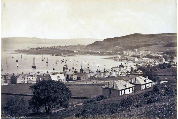 East Bay from the Hill, Gourock in 1890. - Photograph on paper by Samuel Poulton (1819-1898) - P111 - © McLean Museum and Art Gallery, Greenock