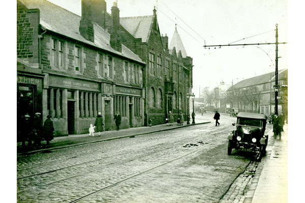 Shore Street, Gourock with the new Municipal Buildings on the left. - 1920s - Photograph on paper - 2009.98.31  - © McLean Museum and Art Gallery, Greenock