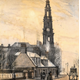 West Kirk Steeple, Nelson Street, Greenock - Watercolour on paper - 21.6 x 15.5 cm - 1881 - 1977.766  ©McLean Museum and Art Gallery, Greenock. This work was conserved with the generous assistance of the Scottish Museums Council.