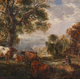 October Pastoral by John Fleming (1792-1845) - Oil on board - 17.3 x 23.2 cm - 1977.814 - © McLean Museum and Art Gallery, Greenock.