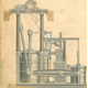Engineering drawing of the side lever steam engine of the Liverpool built by Robert Steele of Greenock with engines by Caird & Co., Greenock in 1830. - 2007.14 - © McLean Museum and Art Gallery, Greenock