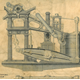 Engineering drawings of the side lever engine from HMS Sphinx built by Caird & Co., Greenock.  HMS Sphinx was a wooden paddle sloop launched in 1846 and broken up in 1881. - 2007.15 - © McLean Museum and Art Gallery, Greenock
