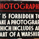 Shipyard sign forbidding the photography of warships from Scotts' Shipbuilding and Engineering Co. Ltd., Greenock. - 2006.374 - © McLean Museum and Art Gallery, Greenock